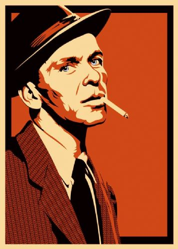 FRANK SINATRA - cut out cigarette - canvas print - self adhesive poster - photo print
